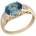 STAR Ring 585 Gelbgold AAA Zirkon blau 18 - 103918200001 - 1 - 140px