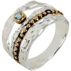 Ring 925 Sterling Silber bicolor Topas behandelt 17 - 103969100001 - 1 - 140px
