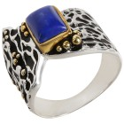 Ring 925 Sterling Silber bicolor Lapis - 103969800000 - 1 - 140px