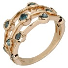 Ring 375 Gelbgold Brillanten blau   - 103997600000 - 1 - 140px