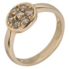 Ring 375 Gelbgold Brillanten champagner   - 103997800000 - 1 - 140px