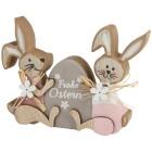 Hasenpaar sitzend mit Osterei - 104048400000 - 1 - 140px