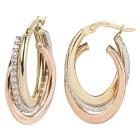 Creolen 585 Gold tricolor + Zirkonia - 104068000000 - 1 - 140px