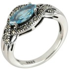 Ring 925 Sterling Silber Markasit
