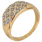Ring 925 Sterling Silber vergoldet Diamanten   - 104236200000 - 1 - 140px