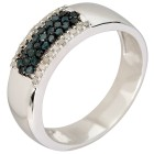 Ring 925 Sterling Silber Diamanten blau behandelt 16 - 104236400001 - 1 - 140px