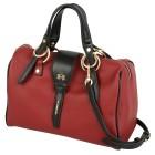 LA MARTINA Leder Bowlingtasche, burgund, schwarz - 104246300000 - 1 - 140px