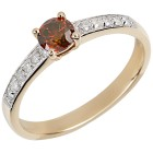Ring 585 Gelbgold Brillant rot behandelt   - 104258500000 - 1 - 140px