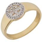 Ring 925 Sterling Silber vergoldet Diamanten   - 104258800000 - 1 - 140px