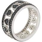 Ring 925 Sterling Silber Spinell Herz