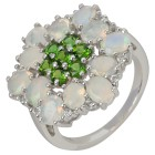 Ring 925 St. Silber, Äthiop. Opal + Chromdiopsid   - 104307900000 - 1 - 140px