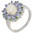 Ring 925 St. Silber, Äthiopischer Opal + Tansanit   - 104308000000 - 1 - 140px