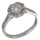 Ring 750 Weißgold Diamanten   - 104319100000 - 1 - 140px