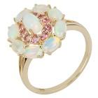Ring 375 Gelbgold, Äthiopischer Opal + Turmalin   - 104321200000 - 1 - 140px