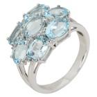 Ring 925 St. Silber Blautopas behandelt + Zirkon   - 104322400000 - 1 - 140px