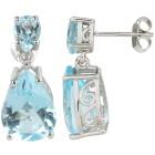 Ohrhänger 925 Sterling Silber Blautopas behandelt - 104323000000 - 1 - 140px