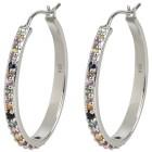 Creolen 925 Sterling Silber, Multi-Saphir - 104324000000 - 1 - 140px