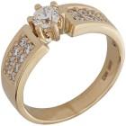 Ring 585 Gelbgold Brillanten   - 104376500000 - 1 - 140px