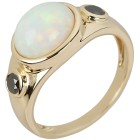 Ring 585 Gelbgold, Opal + Brillant schwarz   - 104391100000 - 1 - 140px