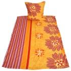 AllSeasons Bettwäsche 2-teilig, Floral orange-rot - 104392100000 - 1 - 140px