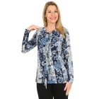 Damen-Pullover, blau/multicolor   - 104417900000 - 1 - 140px