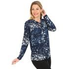 Damen-Pullover, blau/multicolor   - 104418500000 - 1 - 140px