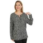 Damen-Pullover, schwarz/hellgrau   - 104419000000 - 1 - 140px