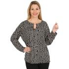 Damen-Pullover, rosa/schwarz   - 104419200000 - 1 - 140px