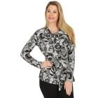 Damen-Pullover, schwarz/multicolor   - 104419600000 - 1 - 140px