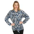 Damen-Pullover, blau/multicolor   - 104420600000 - 1 - 140px