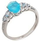 Ring 925 Silber Äthiopischer Opal +Topas behandelt   - 104440900000 - 1 - 140px