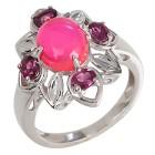 Ring 925 Silber Äthiopischer Opal pink+Rhodolith   - 104441400000 - 1 - 140px
