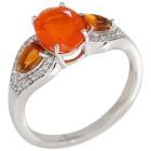 Ring 925 Silber Äthiopischer Opal orange+Citrin   - 104460200000 - 1 - 140px