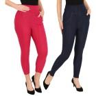 FASHION NEWS 2er Pack Jeans-Leggings blau/beere - 104472200000 - 1 - 140px