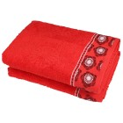 Duschtuch 2-teilig, Blume rot - 104564800000 - 1 - 140px