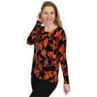IMAGINI Damen-Pullover schwarz/orange    - 104632300000 - 1 - 140px