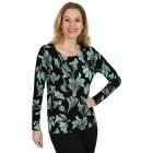 IMAGINI Damen-Pullover schwarz/grün   - 104632500000 - 1 - 140px