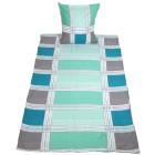 Fleece Bettwäsche 155x220 blau-mint - 104736700000 - 1 - 140px
