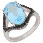 Ring 925 Sterling Silber Blautopas, Spinell   - 104773100000 - 1 - 140px