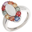 Ring 925 Sterling Silber Saphir multi