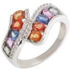 Ring 925 Sterling Silber Saphir multi   - 104774300000 - 1 - 140px