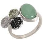 Ring 925 St. Silber Aventurin, Spinell, Peridot