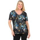 Z-ONE Damen Blusenshirt mit Blumendruck multicolor - 104949500000 - 1 - 140px
