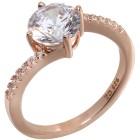 Ring 925 Sterling Silber rosevergoldet, Zirkonia Gr.17 - 14753310401 - 1 - 140px