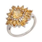 Ring 925 Sterling Silber, Citrin   - 14765400000 - 1 - 140px