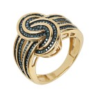 Ring 925 Sterling Silber vergoldet, Diamanten Gr.18 - 14771610301 - 1 - 140px