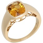 STAR Ring 585 Gelbgold Gelber AAABeryll Gr. 20 - 14820310303 - 1 - 140px