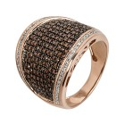 Ring 925 Sterling Silber rosé vergoldet Diamanten Gr.18 - 14827310301 - 1 - 140px