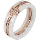 Ring 925 St. Silber rosévergoldet Keramik Zirkonia   - 14850700000 - 1 - 140px