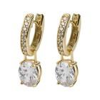 Creolen 925 Sterling Silber vergoldet Zirkonia - 14852100000 - 1 - 140px